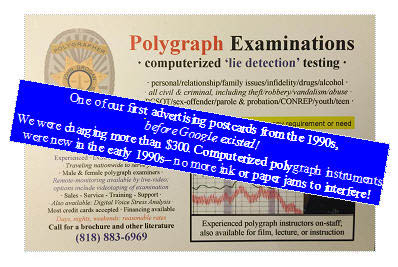 Sonce 1980s, polygraph testing in Los Angeles
